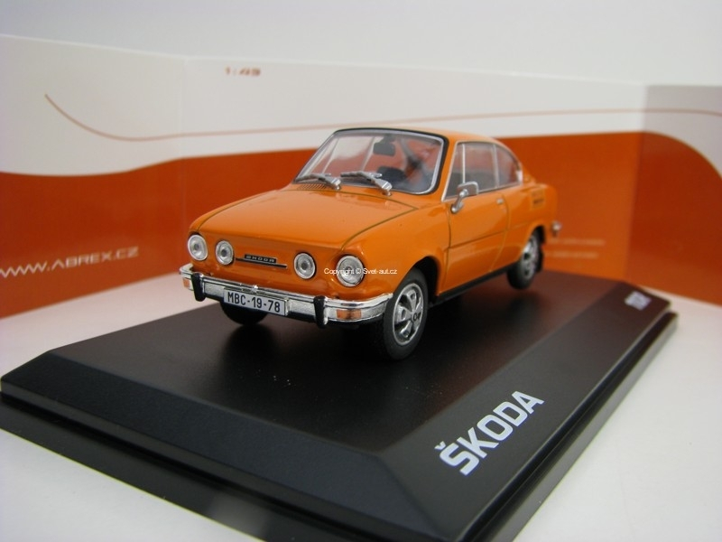 Škoda 110R Coupé 1980 Orange 1:43 Abrex
